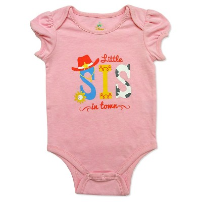 Toy Story Baby Girls' Lil Sis Bodysuit - Pink 3-6M