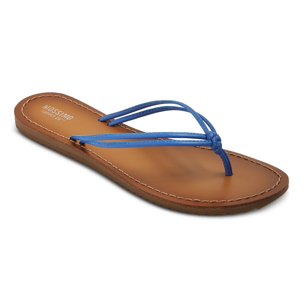 Womens Jeanette Flip Flop Sandals - Mossimo Supply Co. Blue 10