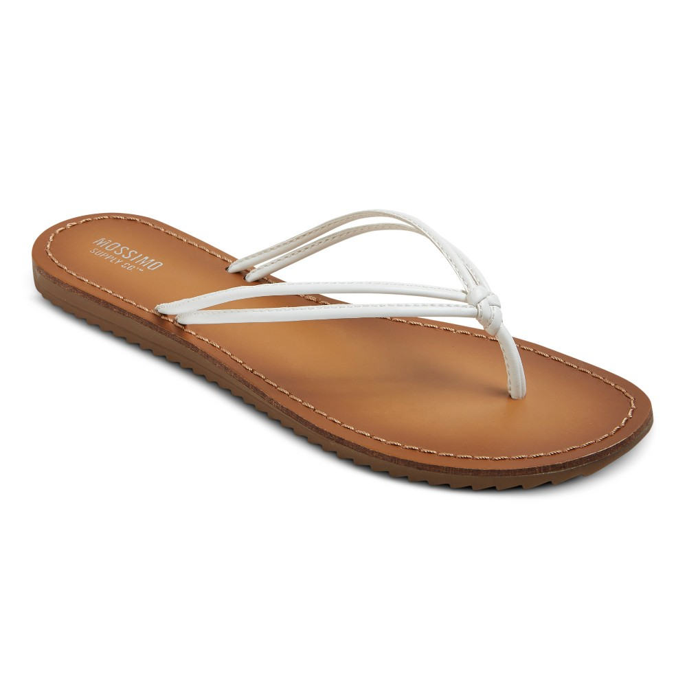 Womens Jeanette Flip Flop Sandals - Mossimo Supply Co. White 11