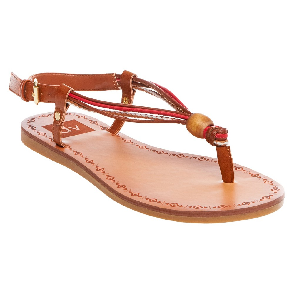 Womens dv Allison Wodden Bead Toe Thong Sandals - Red 6