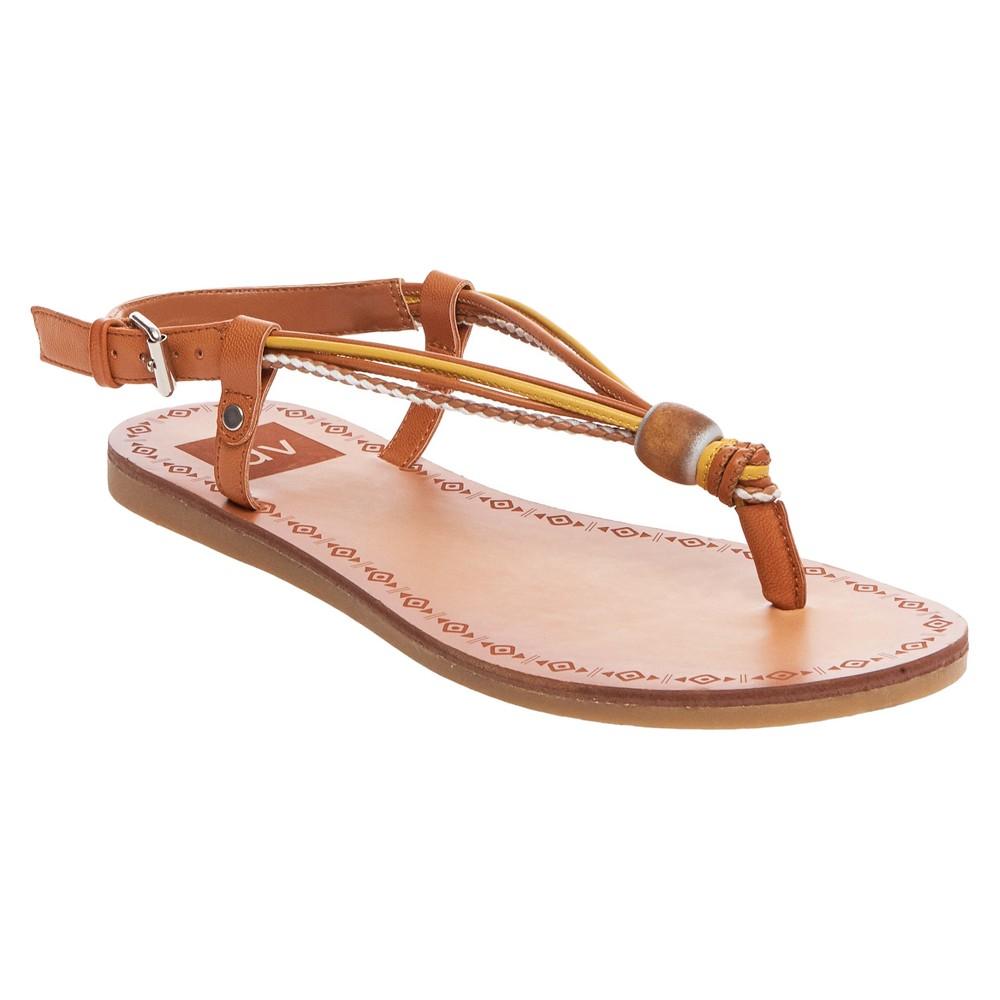 Womens dv Allison Wodden Bead Toe Thong Sandals - Yellow 8.5