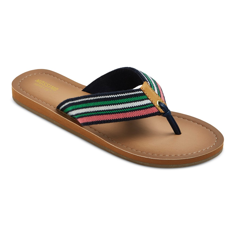 Womens Nubia Flip Flop Sandals - Mossimo Supply Co. Green 10