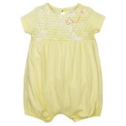 Burt's Bees Baby® Girls' Organic 2 Pack Morning Glory Bubbles Shortalls - Yellow