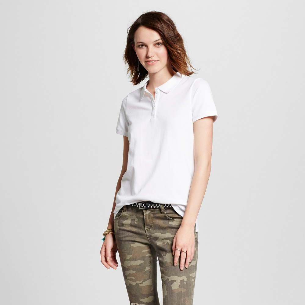 Womens Polo Shirt - Mossimo Supply Co. White L