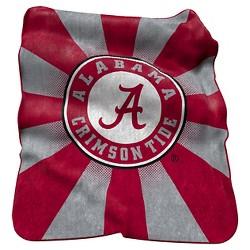 NCAA Logo Brands Raschel Blanket Throw