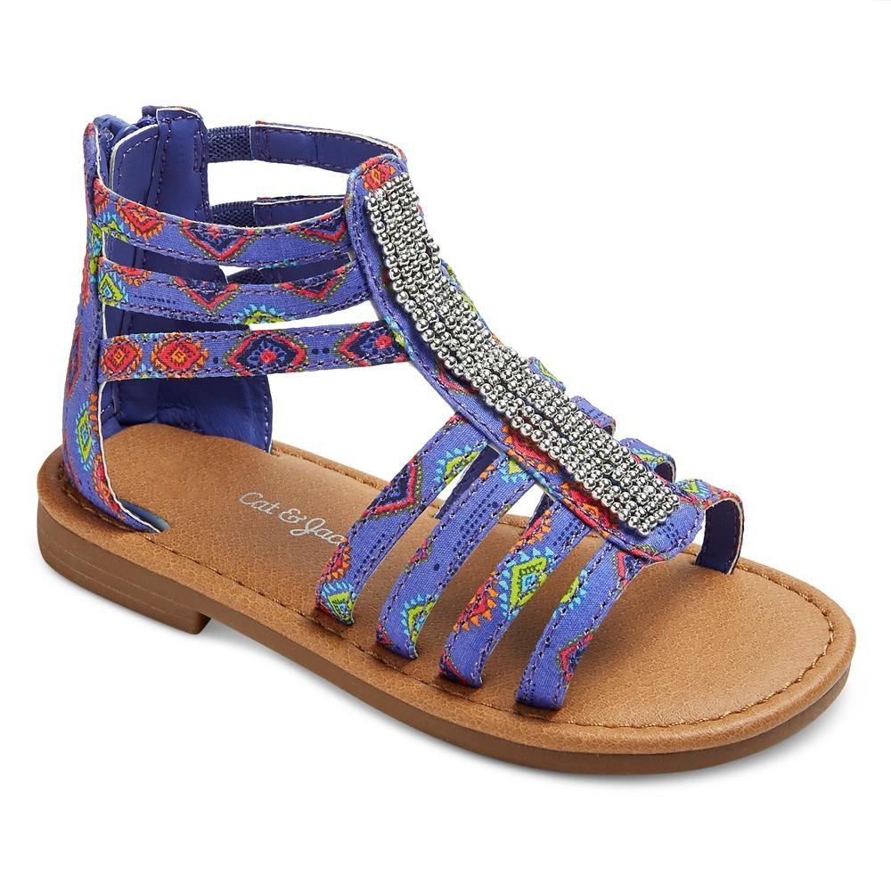 Toddler Girls Callie Gladiator sandals Cat & Jack - Blue 10, Purple