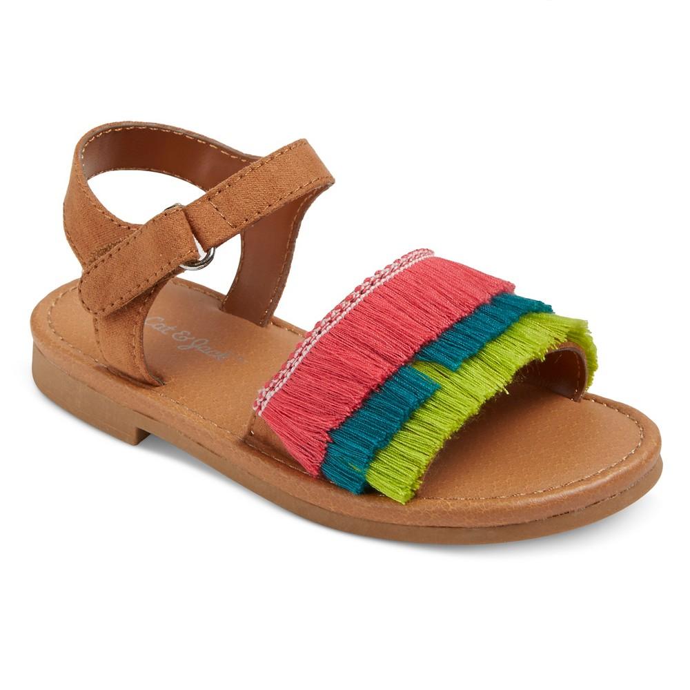 Toddler Girls Carla Slide sandals Cat & Jack - 10, Multicolored