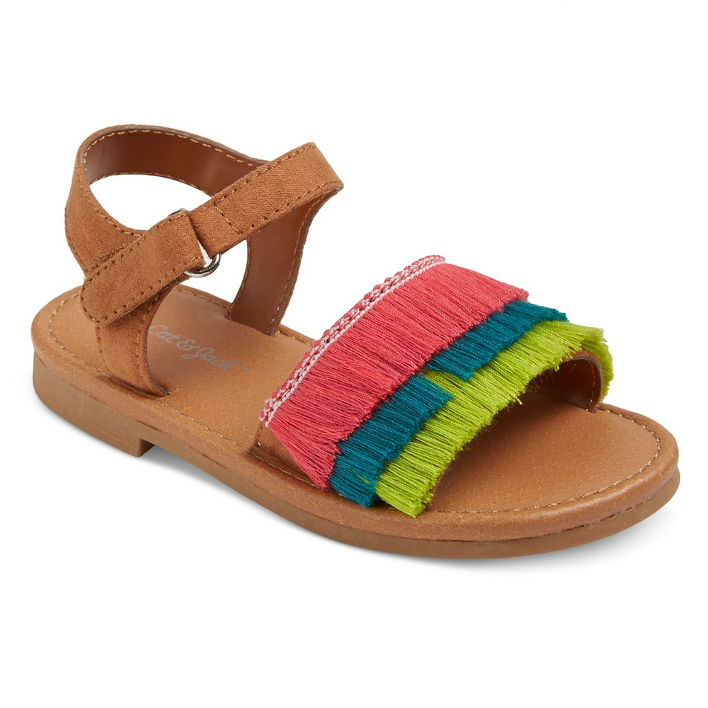 Toddler Girls Carla Slide sandals Cat & Jack - 6, Multicolored