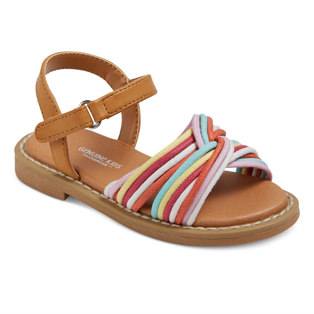 Toddler Girls Claudia Slide sandals Genuine Kids - 7, Multicolored