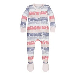Burt's Bees Baby® Girls' Organic Stars & Stripes Sleeper - Light Pink
