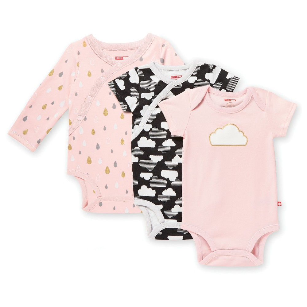 Skip Hop Star Struck Baby Girls Bodysuit Multipack Set - Pink NB