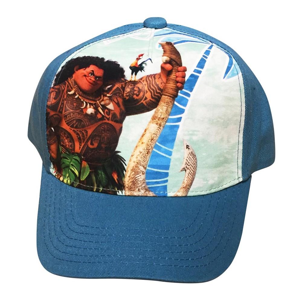 Boys Disney Moana Baseball Hat - Turquoise blue One Size, Teal Nights