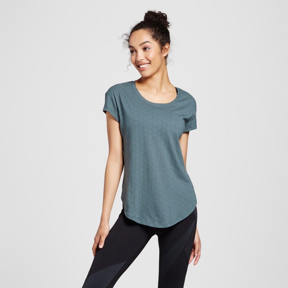 Women's Layering Burnout T-Shirt - C9 Champion - Pine (Green) S