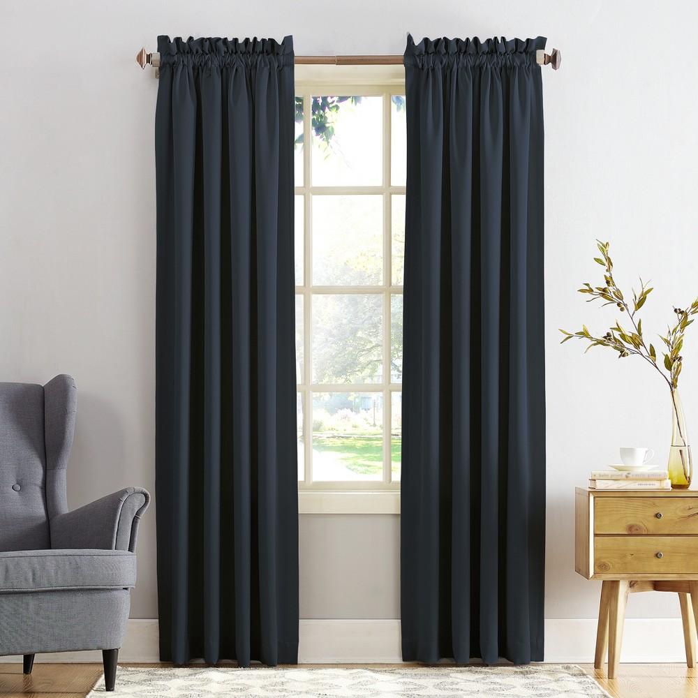 "Seymour Energy Efficient Rod Pocket Curtain Panel Indigo (Blue) 54""""x84""""- Sun Zero"