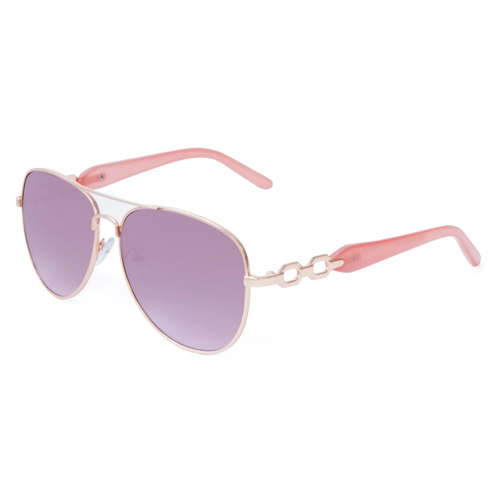Aviator Metal With Plastic Temples - Gold/Pink, Womens, Blush Peach