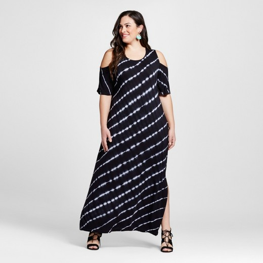 Women's Plus Size Cold Should Tie Dye Maxi Dress - U-knit : Target