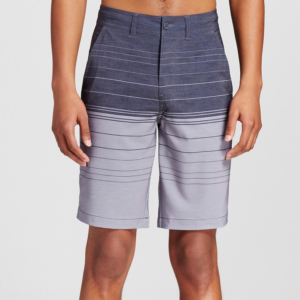 Mens Stripe Hybrid Swim Shorts - Mossimo Supply Co. Black 38