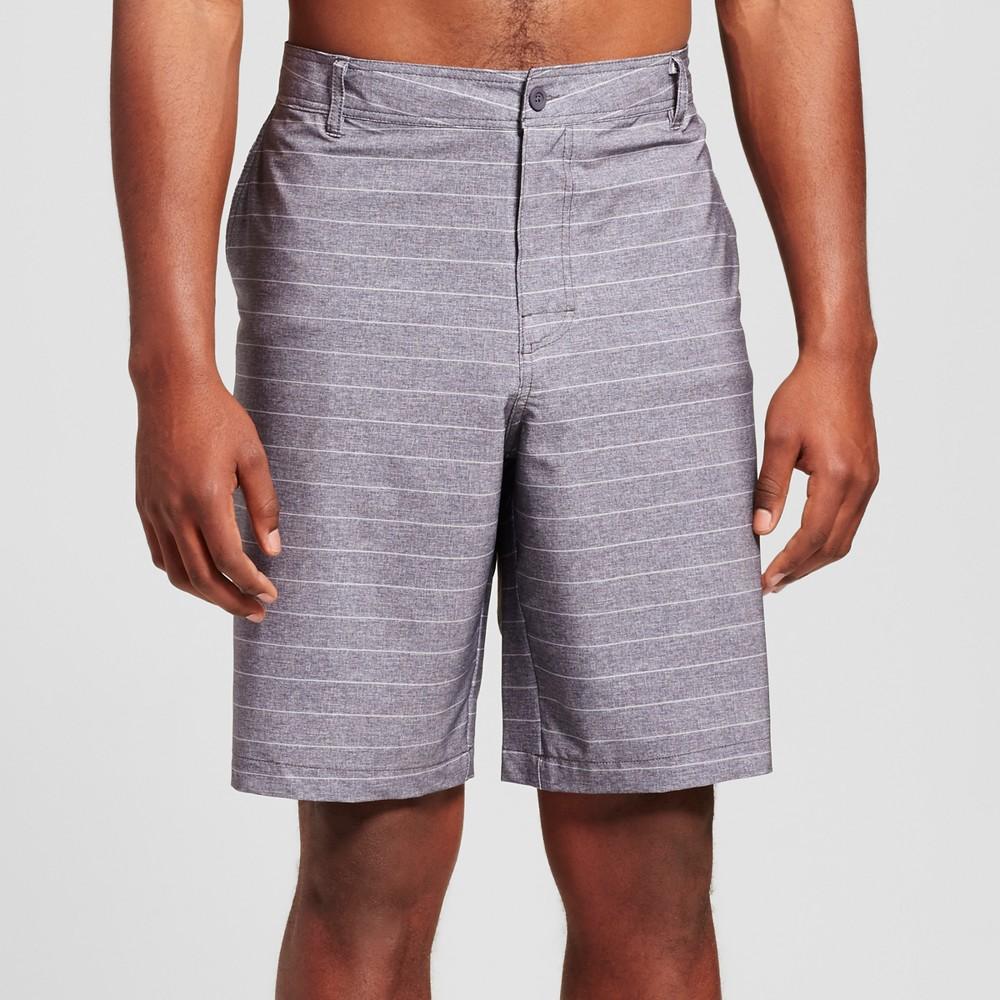 Mens Big & Tall Hybrid Stripe Swim Shorts - Mossimo Supply Co. Charcoal 46, Black