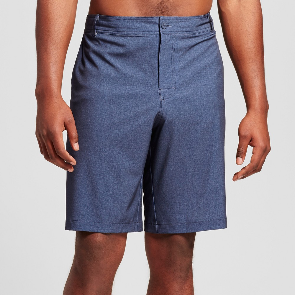 Mens Big & Tall Textured Hybrid Swim Shorts - Mossimo Supply Co. Navy 60, Blue
