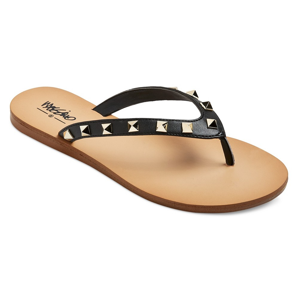 Womens Niquita Flip Flop Sandals - Mossimo Black 6