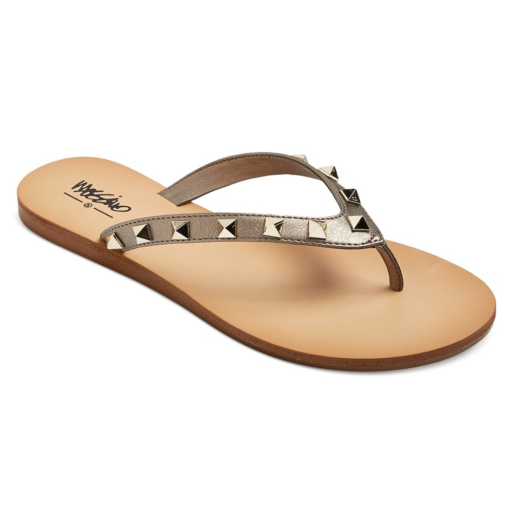 Womens Niquita Flip Flop Sandals - Mossimo Pewter (Silver) 9