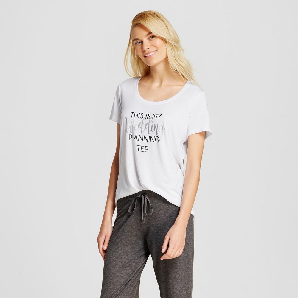 Love and Cherish Womens Wedding Planning Pajama T-Shirt - White XL