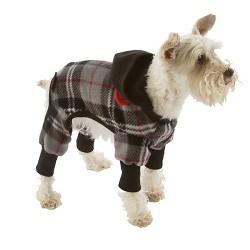 SnoJam Dog Fleece Body Suit Dog Costume - Gray