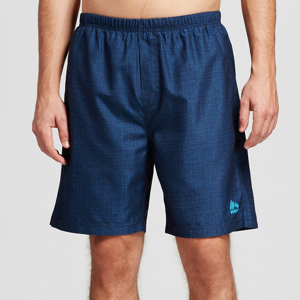 Mens Swim Trunks with Jammer Textured Blue XL - Rbx