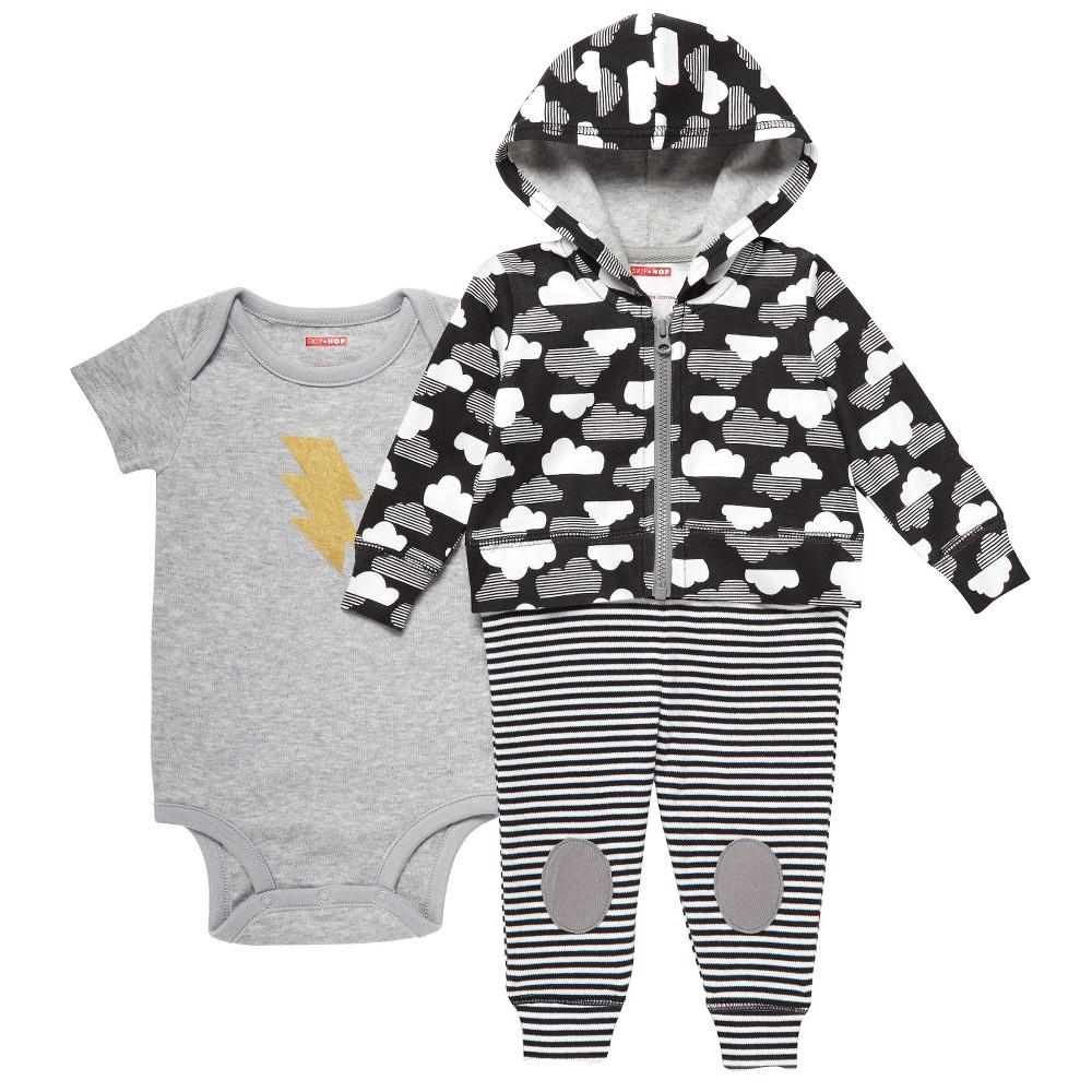 Skip Hop Baby Star Struck Three Piece Set - Gray 6M, Infant Unisex, Size: 6 M