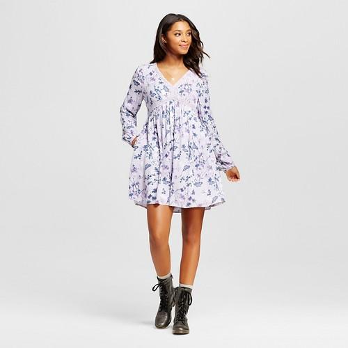 Women's Printed Dress - Xhilaration (Juniors') Purple XL