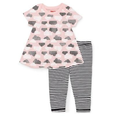 Skip Hop Star Struck Baby Girls' Tunic and Leggings Set - Pink 6M