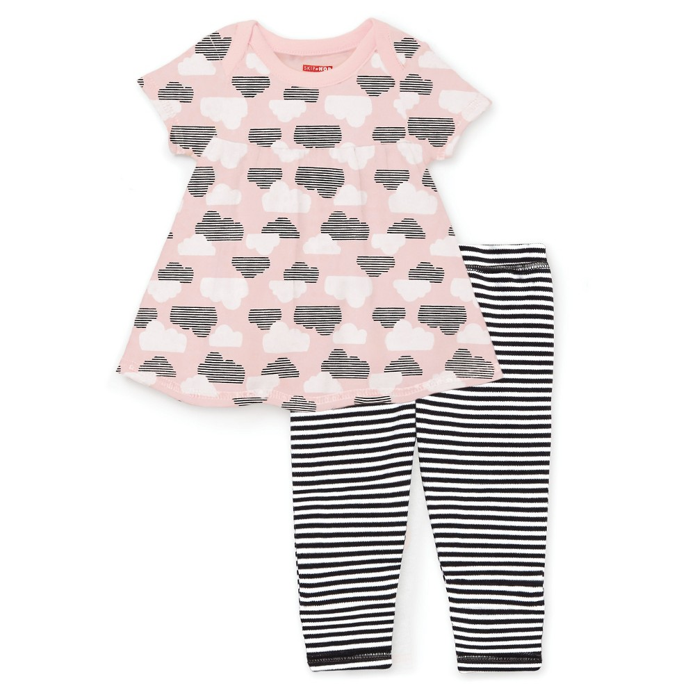 Skip Hop Star Struck Baby Girls Tunic and Leggings Set - Pink 6M, Size: 6 M