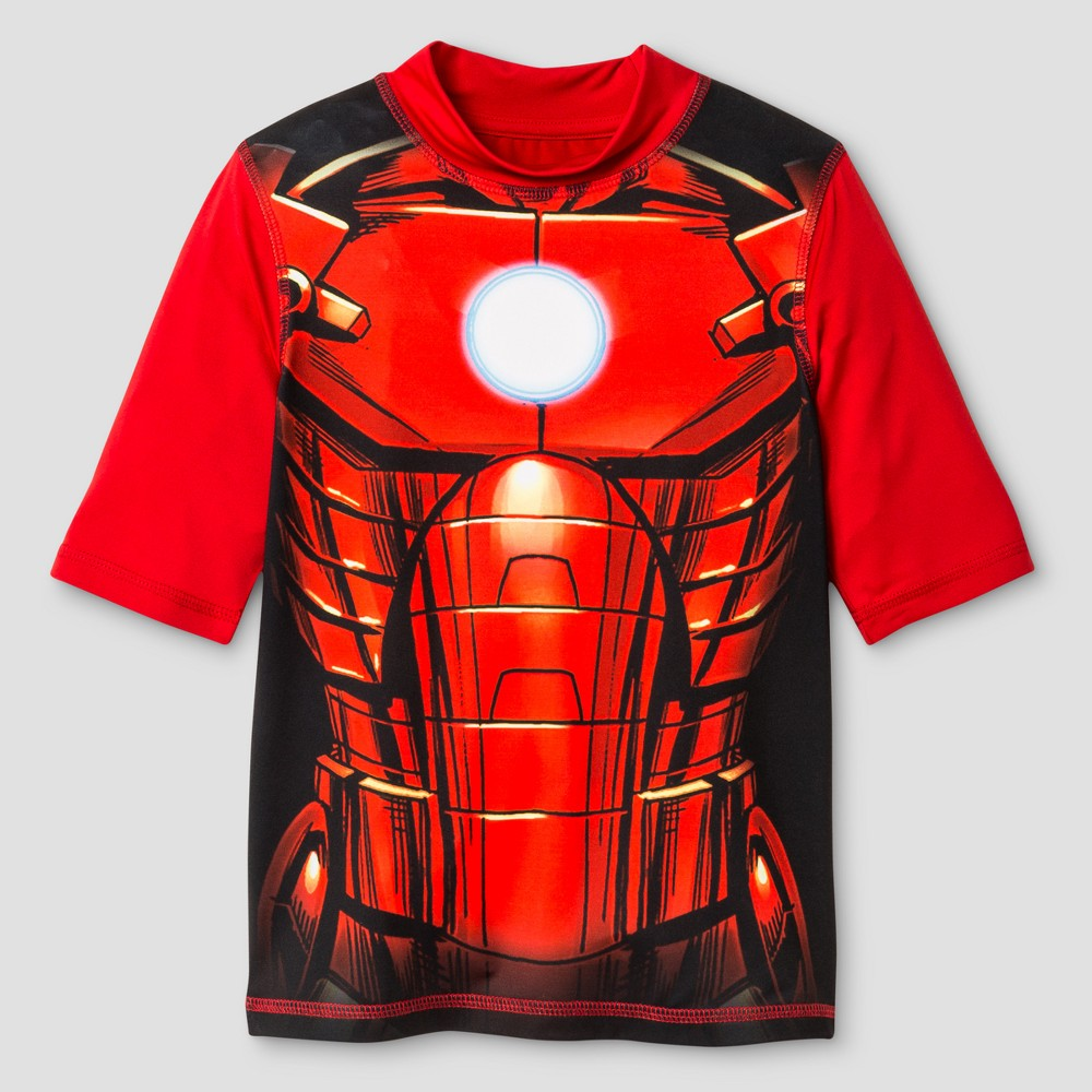 Boys Iron Man Rashguard - Red S
