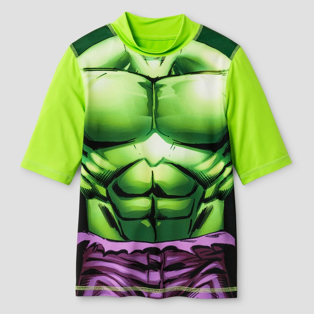 Boys Hulk Rashguard - Lime M, Green