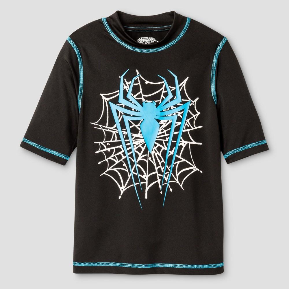 Boys' Spider-Man Rashguard - Black L