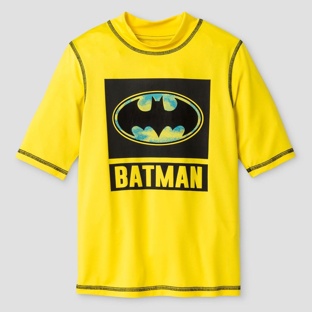 Boys Batman Rashguard Yellow XS