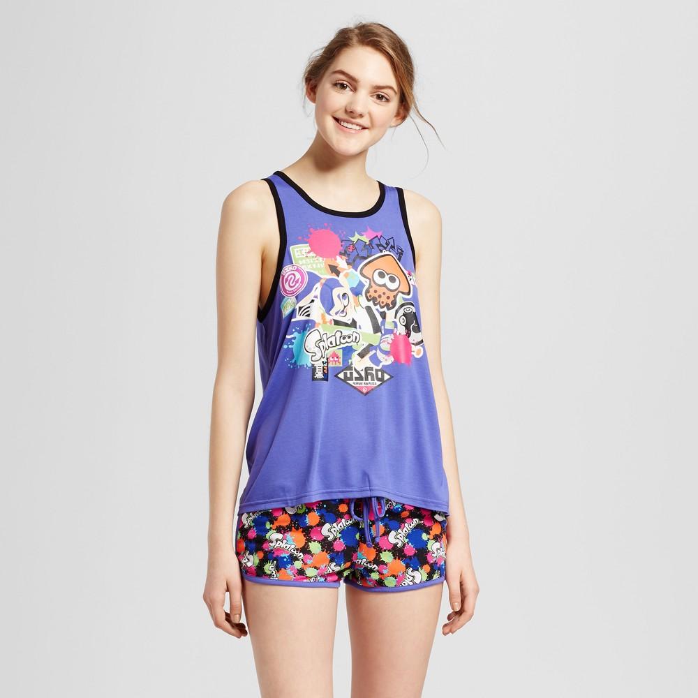 Nintendo Women's Tank & Shorts Pajamas Set – Splatoon – Purple M