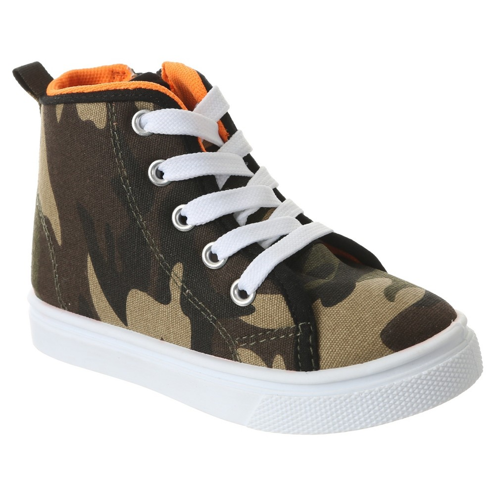 Toddler Boys Capelli Kids Angelo High Top Camo Sneakers - Green Combo 7