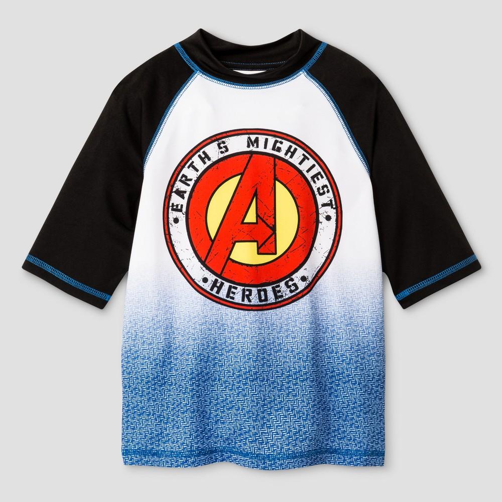 Boys Avengers Rashguard White S