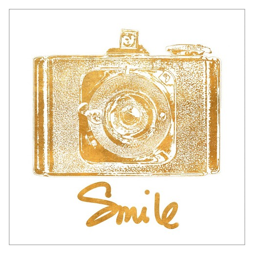 Gold Foil Wall Art gold camera (gold foil)jairo rodriguez unframed wall art print