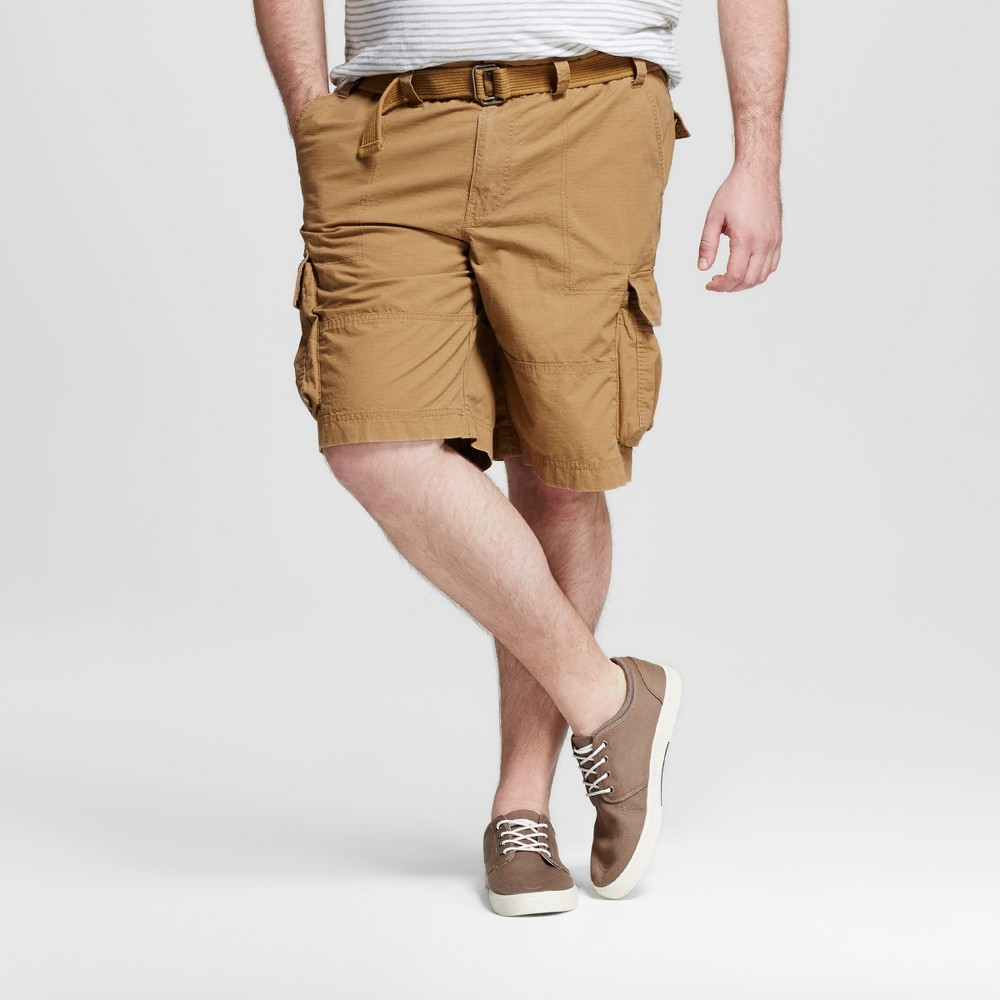 Mens Big & Tall Belted Cargo Shorts - Mossimo Supply Co. Brown 48