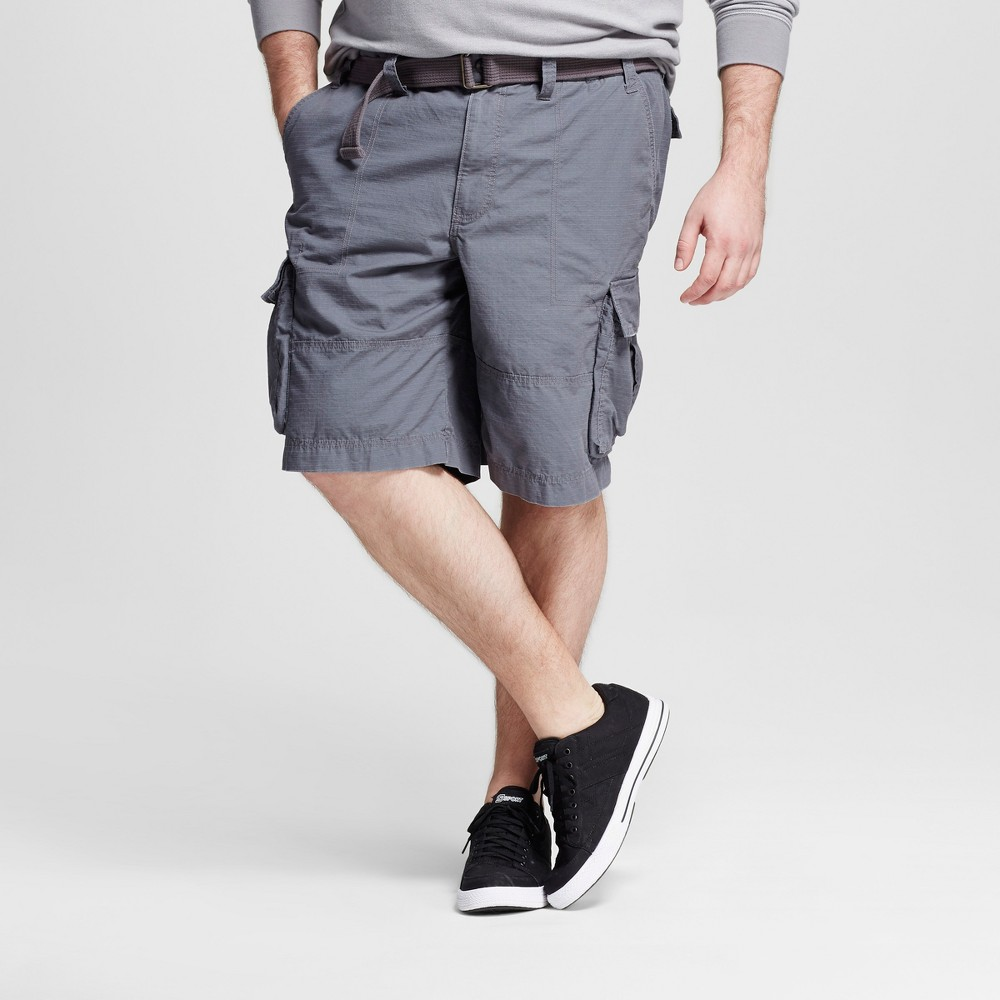 Mens Big & Tall Belted Cargo Shorts - Mossimo Supply Co. Gray 56