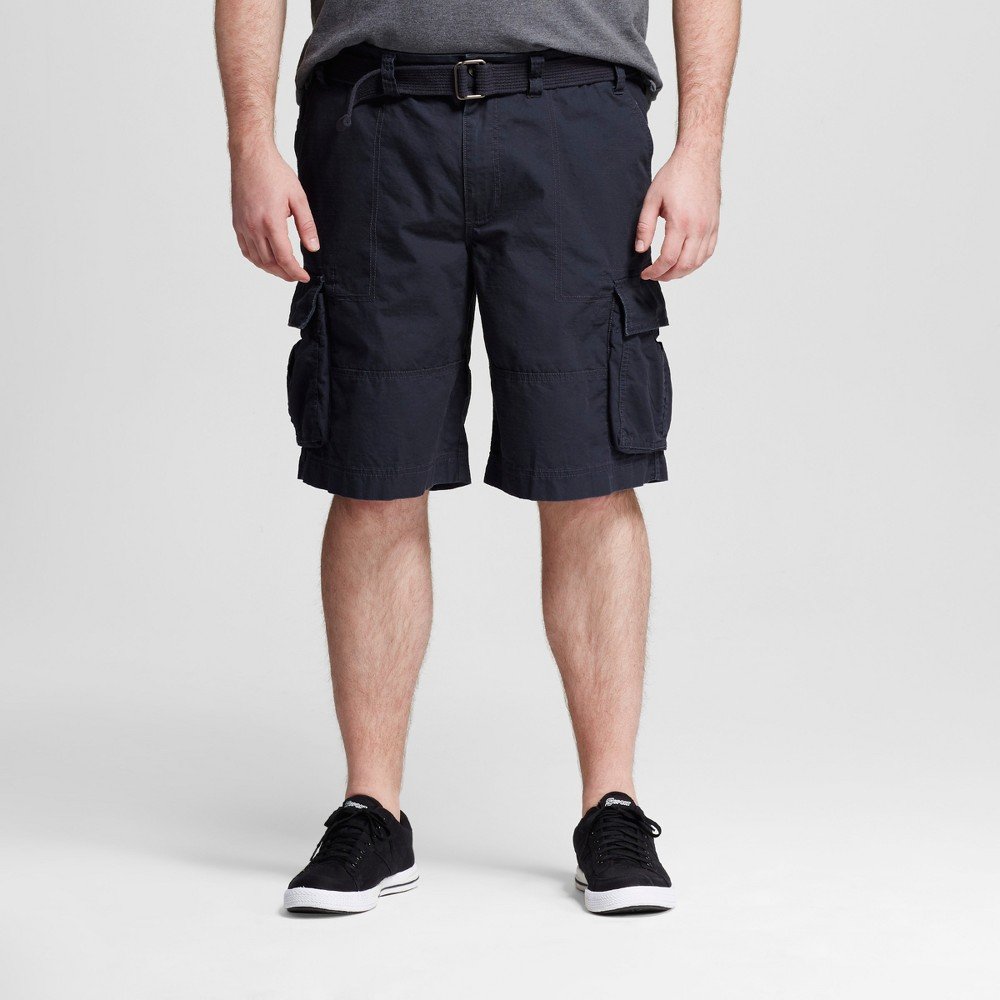 Mens Big & Tall Belted Cargo Shorts - Mossimo Supply Co. Dark Gray 54