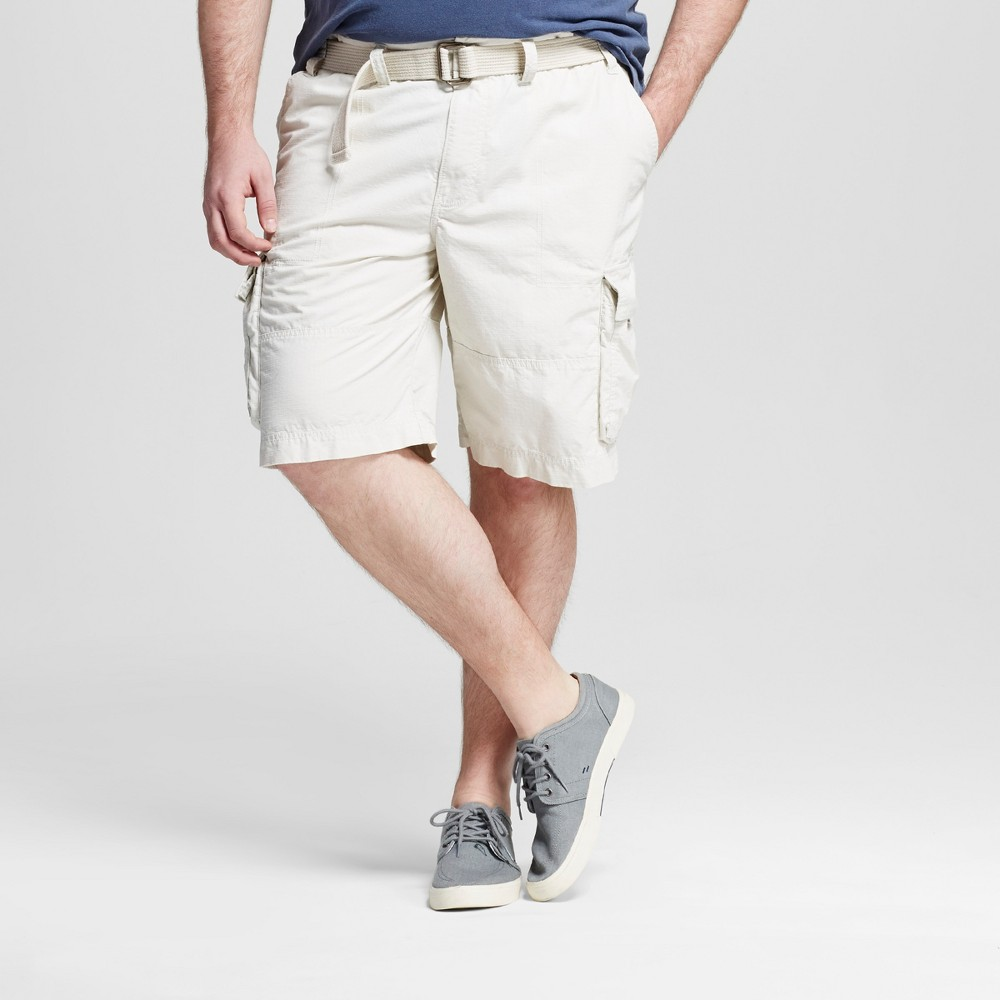 Mens Big & Tall Belted Cargo Shorts - Mossimo Supply Co. Tan 48