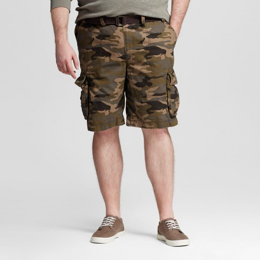 Men's Big & Tall Belted Camo Cargo Shorts - Mossimo Supply Co ...
