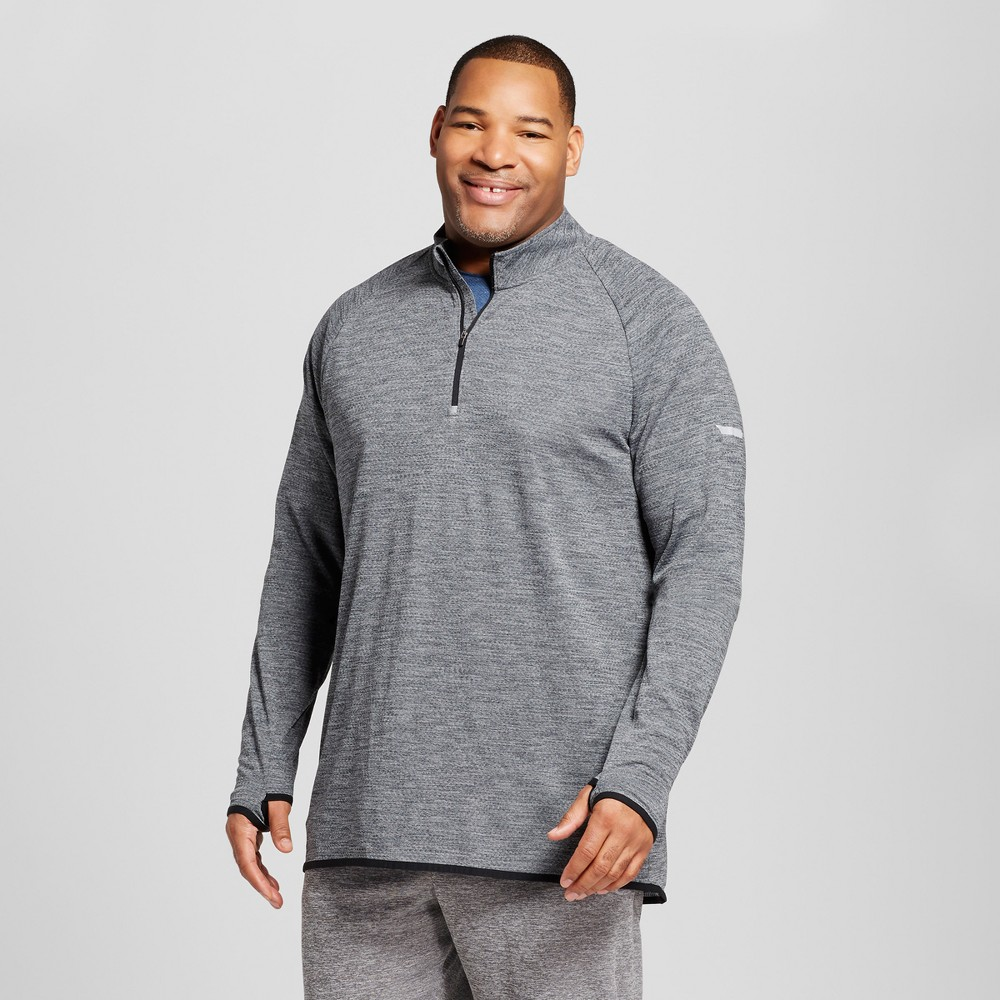 Men's Big & Tall Run 1/4 Zip Layer Pullover - C9 Champion Railroad Gray 2XB