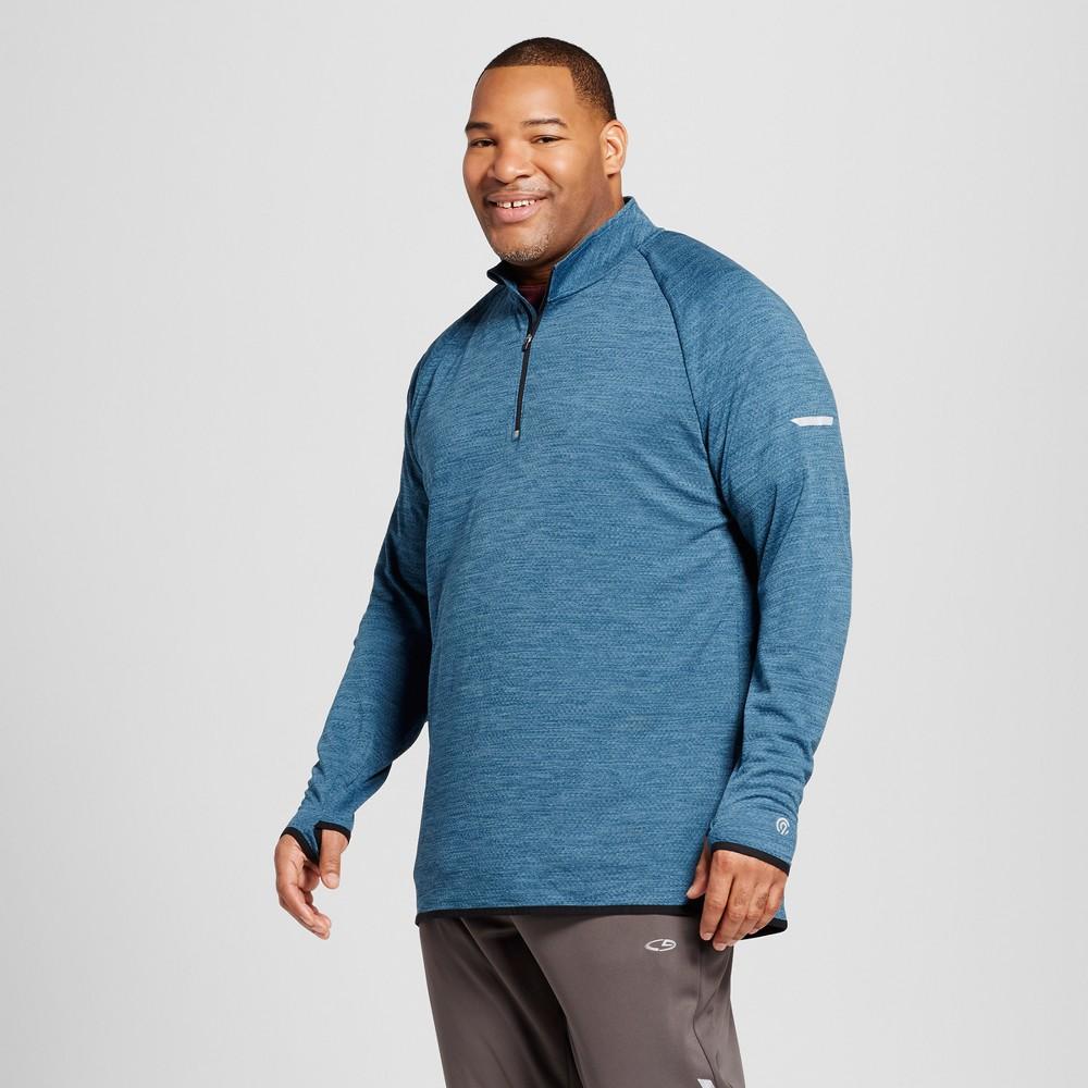 Mens Big & Tall Run 1/4 Zip Layer Pullover - C9 Champion Teal Regatta 3XB