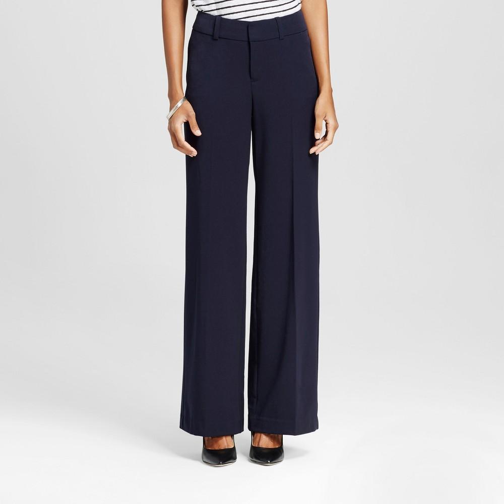 Womens Wide Leg Pants Federal Blue 4 -Merona