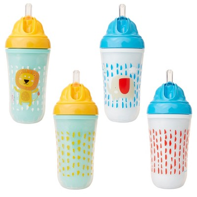 Cheeky® Baby Straw Cups - Lion & Elephant -2ct