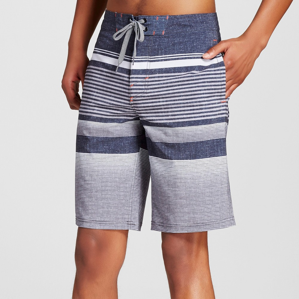 Mens Stripe Board Shorts - Mossimo Supply Co. Black 28